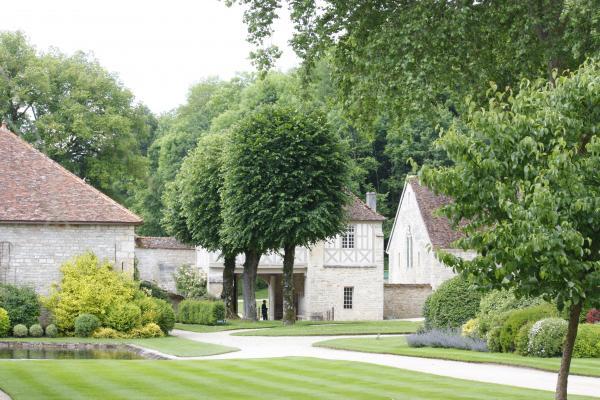 Abbe de Fontenay, Abtei, Burgund, Frankreich, Pflanzen