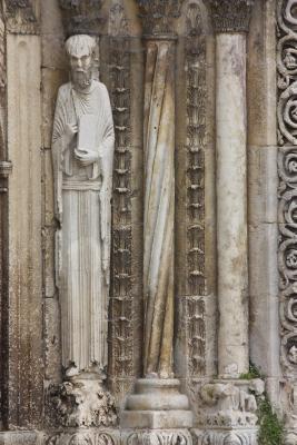 Avallon, Burgund, Frankreich, Kirche, Skulptur, Yvonne