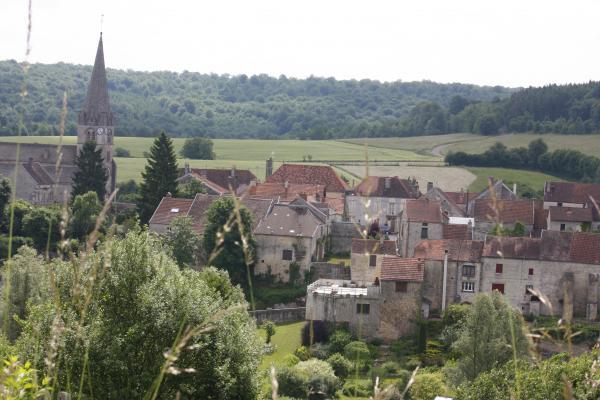 Burgund, Champagne, Frankreich, Le Bourg