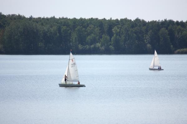 Fahrrad, Oberlausitz, Segelboot, Wasser, Wittichenau