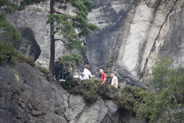 Affensteine, Menschen, Sächsische Schweiz, Wandern