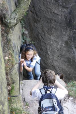 Affensteine, Bauernloch, Menschen, Sächsische Schweiz, Wandern, Zwillingsstiege