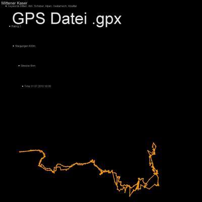 Mitten, Alm, Schober, Alpen, Oesterreich, Moelltal, Höhenmeter 400m, Länge 6km, GPX Route, GPS Daten
