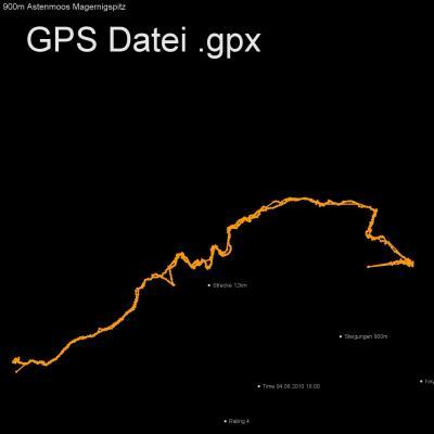 Astenmoos, Magernitzspitz, Alpen, Oesterreich, Moelltal, Moertschach, Höhenmeter 900m, Länge 12km, GPX Route, GPS Daten