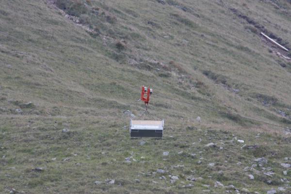 Alpen, Laitenkopf, Lawinenverbau, Marterle, Materialseilbahn, Mölltal, Seilbahn, Zellinkopf, Österreich