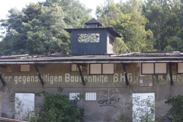 Architektur, Bahnstrecke, fahrradtour, Nerchau, Sozialistisch