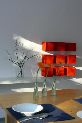 farbig, grafisch, Innenarchitektur, rot