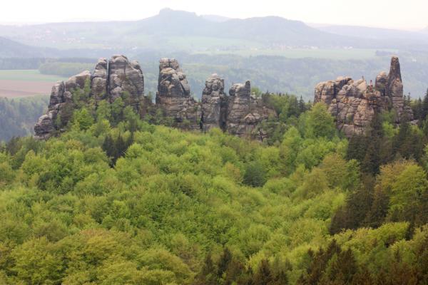 Schrammsteine, Sächsische Schweiz, Zurückesteig Gratweg