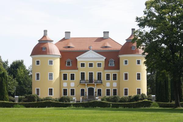 Milkel, Oberlausitz, Park, Schloss