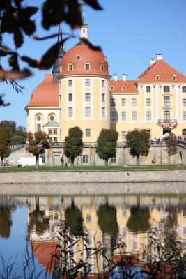 Moritzburg, Sachsen, Schloss, Spiegelung