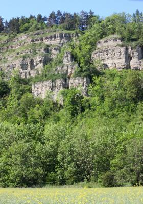 Fels, Landschaft, Thüringen, Werra