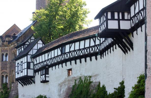 Architektur, Eisenach, Fachwerk, Thüringen, Wartburg