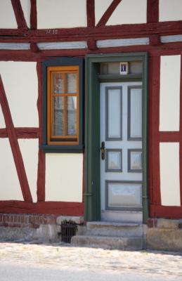 Architektur, Fachwerk, Thüringen, Werra