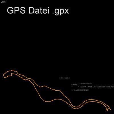 Fahrrad, Elbe, Cossebaude, Gohlis, Radebeul, Höhenmeter 25m, Länge 38km, GPX Route, GPS Daten