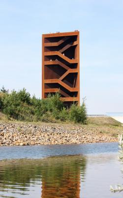 Architektur, iba, Kleinkoschen, Landmarke, Niederlausitz, Rost, rotbraun, See, Senftenberg, Sornoer-Kanal, Stahl, Turm, Wasser