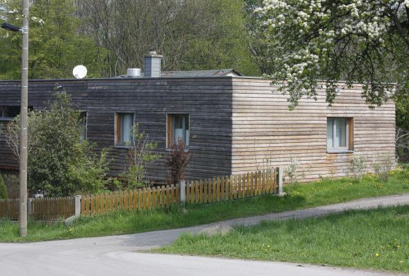 Architektur, Einfamilienhaus, Frühling, Schönfelder Hochland
