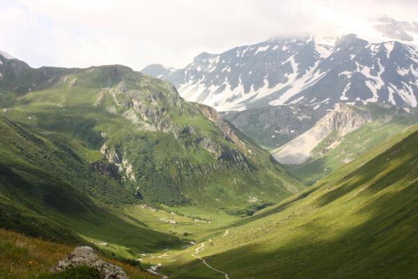 Frankreich, Gletscher, Haute-Savoie, Landschaft, Panorama, Pralognan, Refuge Valette, Vanoise
