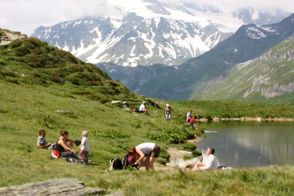 Frankreich, Gletscher, Haute-Savoie, Menschen, Pralognan, Refuge Valette, Vanoise
