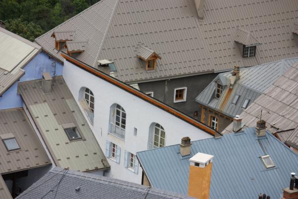 Architektur, Briancon, Dachlandschaft, Frankreich, Hautes-Alpes