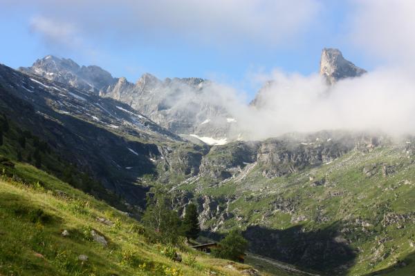 Bramans, Frankreich, Gipfel, Haute-Savoie, Vanoise, Wolken