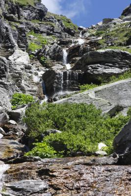 Bramans, Frankreich, Gebirgsbach, Haute-Savoie, Vanoise, Wasserfall