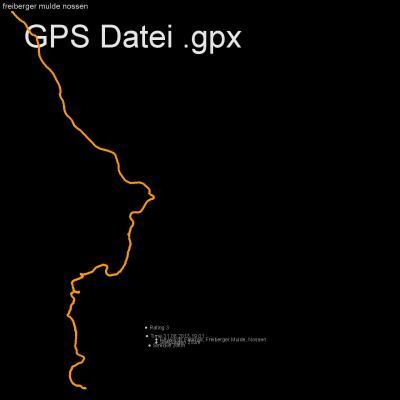Fahrrad, Freiberger Mulde, Nossen, Höhenmeter 250m, Länge 26km, GPX Route, GPS Daten
