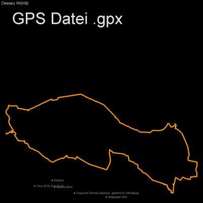 Fahrrad, Bauhaus, gartenreich, Elbradweg, Höhenmeter 50m, Länge 46km, GPX Route, GPS Daten