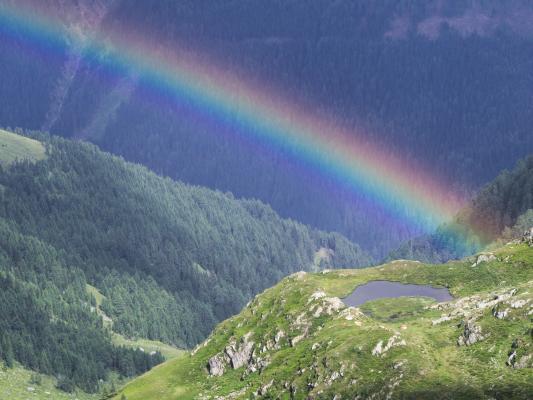 Alpen, Drautal, Hochtristen, Inzell, Kreuzeckgruppe, Regenbogen