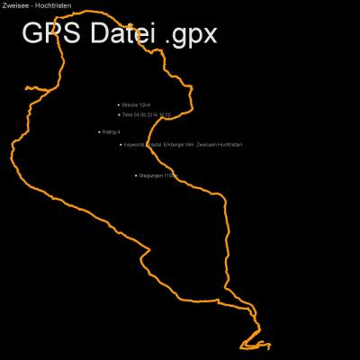 Drautal, Emberger Alm, Zweiseen Hochtristen, Höhenmeter 1100m, Länge 12km, GPX Route, GPS Daten