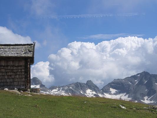 Alpen, Hohe Tauern, Holz, Trögeralm, Trögeralmhütte, Österreich