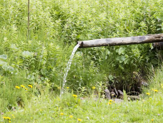 Holz, Kaser, Mitten und Umgebung, Mittener Alm, Rinne, Wasser