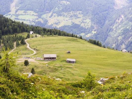 Alpen, Gasthaus Glocknerblick, Mitten und Umgebung, Mohar, Österreich