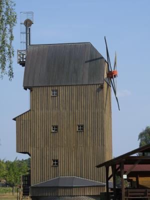 Bockwindmühle, Cottbus, Niederlausitz, Paltrockwindmühle Oppelhain