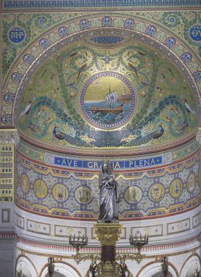 Basilika Notre-Dame de la Garde, bunt, Frankreich, Marseille, Provence-Alpes-Côte d'Azur