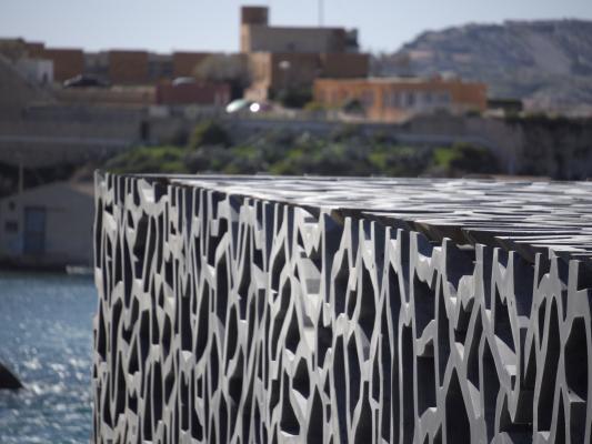 Architektur, Frankreich, grafisch, Marseille, MUCEM, Provence-Alpes-Côte d'Azur