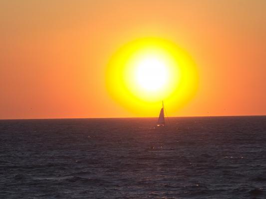 Abendrot, Abendsonne, Frankreich, Marseille, Provence-Alpes-Côte d'Azur, Sonne