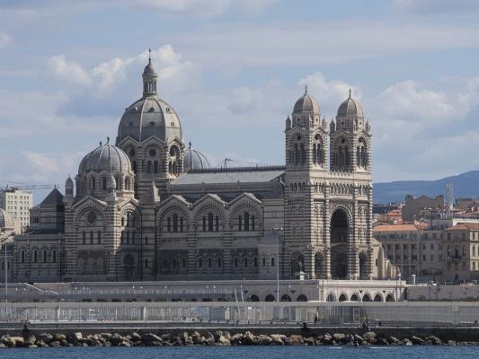 Basilika Notre-Dame de la Garde, Frankreich, Kathedrale La Major, Marseille, Provence-Alpes-Côte d'Azur