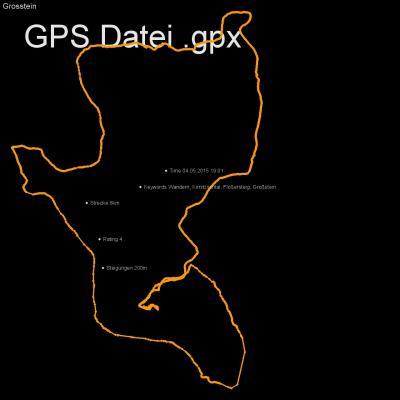 Wandern, Kirnitzschtal, Flößersteig, Großstein, Höhenmeter 200m, Länge 8km, GPX Route, GPS Daten