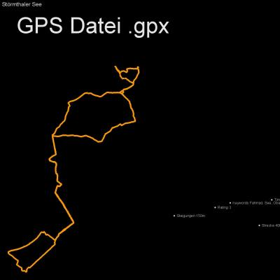 Fahrrad, See, Oberholz, Höhenmeter 150m, Länge 40km, GPX Route, GPS Daten