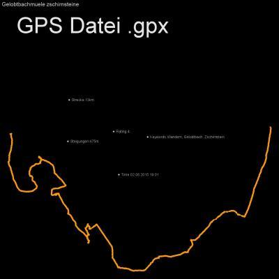 Wandern, Gelobtbach, Zschirnstein, Höhenmeter 475m, Länge 13km, GPX Route, GPS Daten
