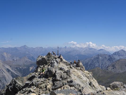 Briancon, Frankreich, Gipfel, Gipfelkreuz, Hautes-Alpes