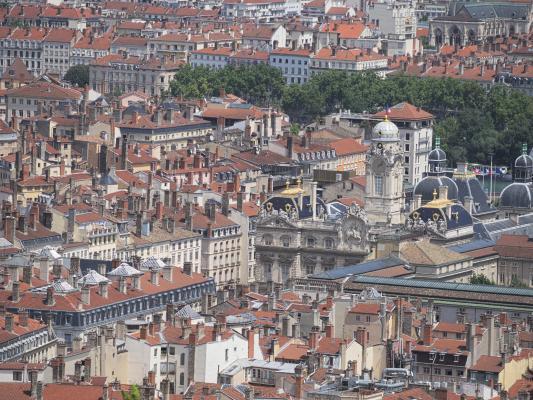 Dachlandschaft, Frankreich, Lyon, Rhone