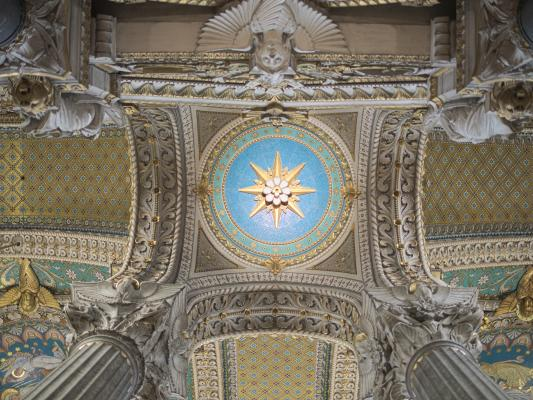 Basilika, Basilika Notre-Dame, bunt, farbig, Frankreich, Kirche, Lyon, Rhone