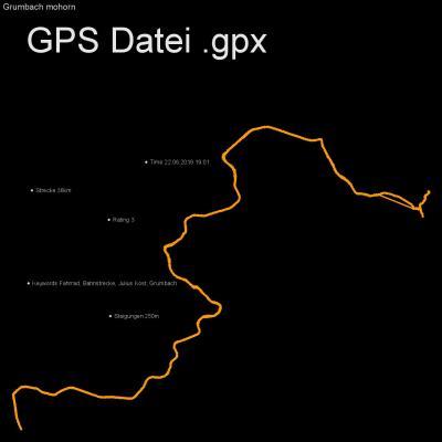 Fahrrad, Bahnstrecke, Julius Kost, Grumbach, Höhenmeter 250m, Länge 36km, GPX Route, GPS Daten