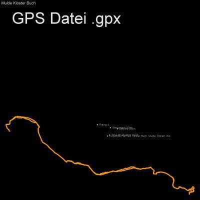 Fahrrad, Kloster Buch, Mulde, Döbeln, Eis, Höhenmeter 200m, Länge 28km, GPX Route, GPS Daten
