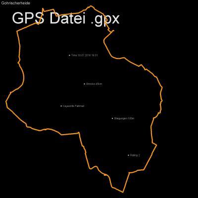 Fahrrad, Höhenmeter 100m, Länge 45km, GPX Route, GPS Daten
