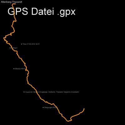 Fahrrad, Erzgebirge, Weißeritz, Tharandt, Talsperre, Eisenbahn, Höhenmeter 400m, Länge 45km, GPX Route, GPS Daten