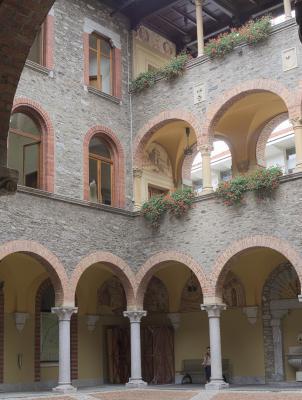 Bellinzona, Innenhof, Rathaus, Schweiz