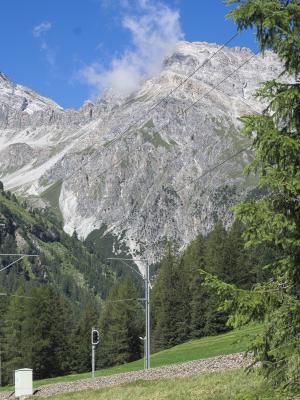 Eisenbahn, Graubünden, Preda, Rhätische Bahn, Schweiz