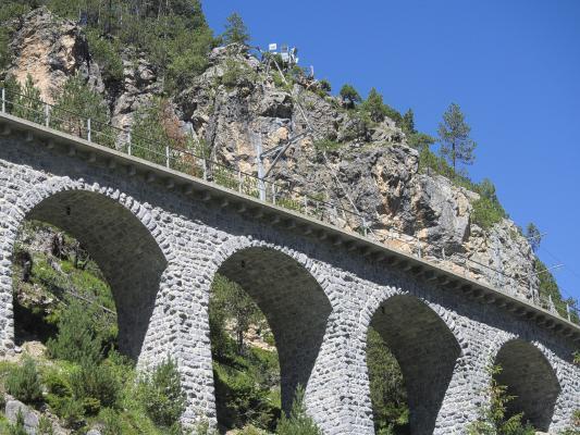Eisenbahn, Graubünden, Rhätische Bahn, Schweiz, Viadukt